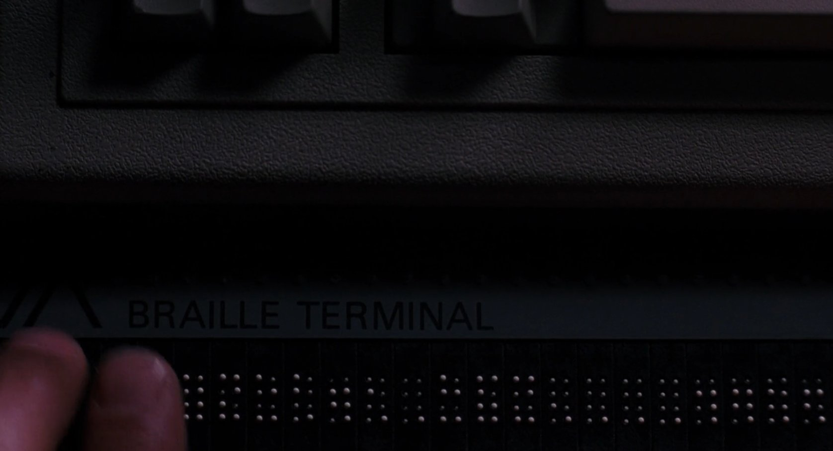 Whistler using a Braille terminal